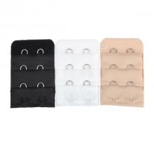 3PCs Bra Extension Lingerie Strap Extender Replacement With 2 Hooks Bra Accessories