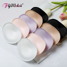 Flymokoii 1 Pair/Lot Women Bra Padded Chest Cups Insert Breast Enhancer Push Up Bikini Invisible Bra Pads for Swimsuit