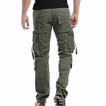 2019 Men Cargo Pant Casual Men Multi-Pocket Overall Male Combat Cotton Trousers Army Casual joggers pants Size 42 Drop shipping
