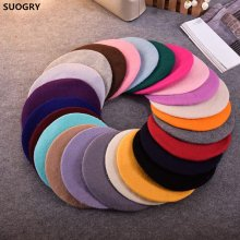 Hot Sell 2018 Cheap Fashion New Women Wool Solid Color Beret Female Bonnet Caps Winter All Matched Warm Walking Hat Cap 20 Color