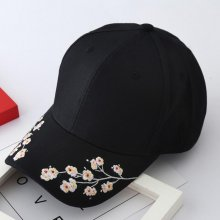 2019 Women Summer Hats Symmetrical Flower Embroidery Built-in insulation Knitted Hats Femme Baseball Cap Adjustable