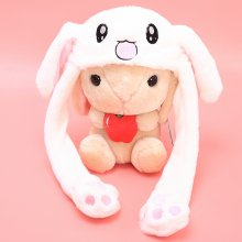 free ship 2018 Fashion Moving Hat Rabbit Ears Plush Sweet Cute Airbag Cap 5 color can be choose