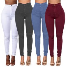 S-XXXLWomen Denim Skinny Jeggings Pants High Waist Stretch Jeans Slim Pencil Trousers Wash Skinny Jeans  High Waist Winter   15