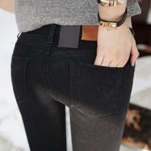 Women jeans In the spring  2019 Black Stretch Jeans new female Korean stretch  slim jeans pants feet