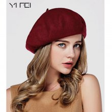 Winter Women Hat Vintage Berets Wool 32colors Cap Pillbox Hat Gorras Planas Hombre Hats Beret Boinas Mujer Wool Beanie Hat
