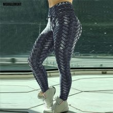 New Black Weaving Printed Tie Women Fitness Leggings Push Up Workout Leggings Elastic Female Sporting Leggins gothic Pants