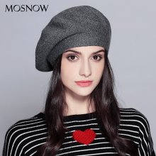 Women Beret Vogue Hat For Winter Female Knitted Cotton Wool Hats Cap Autumn 2019 Brand New Women's  Hats Caps  #MZ729