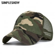 2019 Camo Baseball Caps Men Summer Mesh Cap Tactical Camouflage Hat For Men Women High Quality Bone Masculino Dad Hat Caps