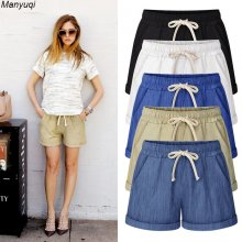 Summer denim shorts for women harem big size shorts cotton women hot shorts 7 colors M-7XL