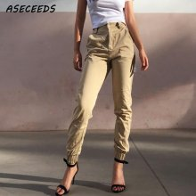 High Waist Camo Black Pants Joggers Women Capris Chain Cargo Pants Trousers Women Camouflage Korean Fashion