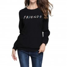 FRIENDS Letter Print Women Hoodies Sweatshirt Winter Autumn Thicken Harajuku Sudaderas Mujer Long Sleeve Pullovers drop shipping