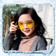 Sunglasses Polarized Uv400 High Quality Children Eyewear Kids Vintage Round Glasses Girls Cute Shades Retro Yellow Pink New 2019