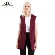 Bella Philosophy 2019 new fashion waistcoat women no button black jacket women sleeveless blazer jacket white casual outwear