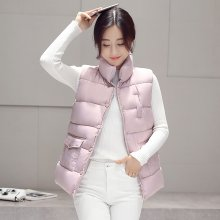 New 2017 autumn and winter women cotton vest white duck down soft warm waistcoat plus size 3XL female outwear brand vest coat