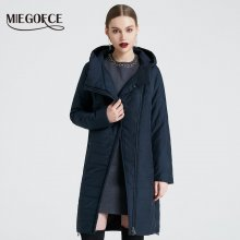 MIEGOFCE 2019 Spring Women Jacket With a Curve Zipper Women Coat High-Quality Thin Cotton Padded Jacket Women's Warm Parka Coat