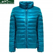 2019 New Autumn Winter Ultra Light Down Jacket Women Windproof Warmth Women's Lightweight Packable Down Coat Plus Size Parkas