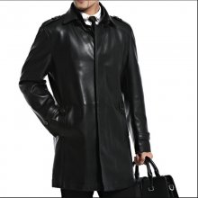 Men Leather Jackets Sheepskin Male Outwear Jackets Autumn Casual Jacket Men Fashion Long Man Leather Jackets A2552