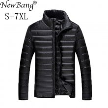 NewBang Plus 5XL 6XL 7XL Duck Down Jacket Men's Feather Ultralight Down Jacket For Men Park Outwear With Carry Bag Overcoat