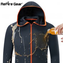 Refire Gear Summer Waterproof Hoodie Jacket Men Quick Dry Lightweight Skin Coat Casual Thin Breathable Ice Silk Outwear Clothes