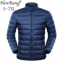 NewBang Plus 6XL 7XL Down Jacket Men's Large Size Ultra Light Down Jacket Men Duck Down Windbreaker Lightweight Feather Coats