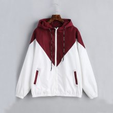 2018New Style Fashion Men's Plus Size Zip Patchwork With Hat Zipper Pocket Jacket Long Sleeve Warm