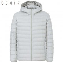 SEMIR 90% duck down jacket for man ultralight warm winter jacket men duck down jacket men clothing casual outerwear hooded coat