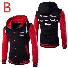 B Custom Printed For men's jackets Man Patchwork Outwear Spring Sportswear Male Autumn coats hooded clothing Sweatshirts Parkas