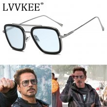 Fashion Avengers Tony Stark Flight Style Sunglasses Men Square Brand Design Sun Glasses women Oculos Retro male male iron Man 3