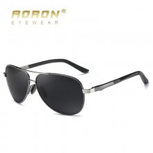 AORON Aluminum Men Polarized Sunglasses men Brand Original Design Goggles Male Metal Frame UV400 Glasses gafas de sol
