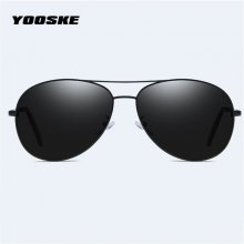 YOOSKE Brand Polarized Sunglasses Men Women Pilot Driving Sun Glasses Vintage Anti-UV400 Goggles Driver Eyewear