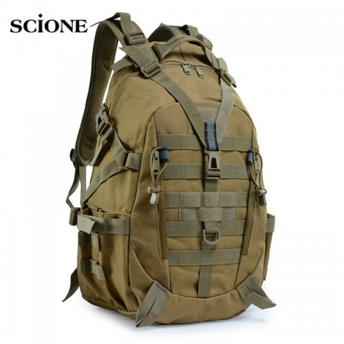 Large Camping Backpack Military Men Travel Bags Tactical Molle Climbing Rucksack Hiking Bag Outdoor sac a dos militaire XA714WA