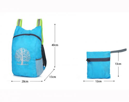 1PC Durable Folding Packable Lightweight Travel Hiking Backpack Daypack Comfortable mat Foldable design camping outdoor Cycling