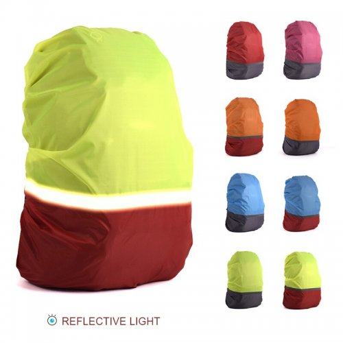 20L-70L Reflective Light Waterproof Dustproof Backpack Rain Cover Portable Ultralight Shoulder Protect Outdoor tools Hiking Bags