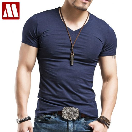 Men's Tops Tees 2019 summer new cotton v neck short sleeve t shirt men fashion trends fitness tshirt free shipping LT39 size 5XL