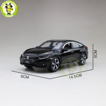 1/32 Jackiekim Honda CIVIC Diecast Metal Model CAR Toys kids children Sound Lighting gifts
