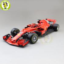 1/18 Ferrari SF71H S.Vettel K.Raikkonen Bburago 16806 #5 #7 Diecast Model Car Toys Boys Girls Gifts