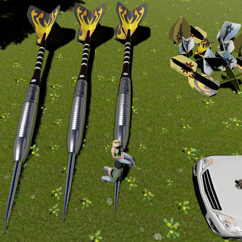 Tungsten Professional Steel tip Darts 23g 90/%-Carry case-Alu shafts-CyeeLife
