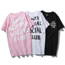 T-shirt with simple letters and loose sleeves