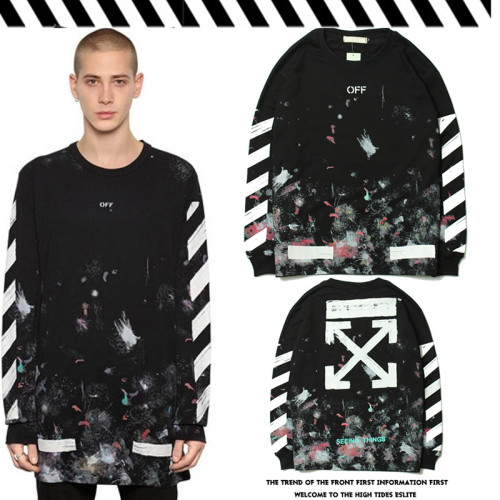 Cross-arrow ink-splashed print turtleneck jacket
