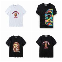 Ape Cartoon Color Printed Short Sleeves T-shirt