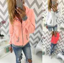Ladies' Spring zipper long-sleeved jacket