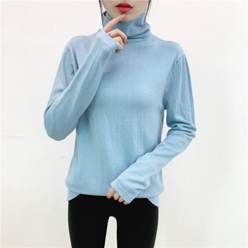 Ladies' Pure colour Choker sweater