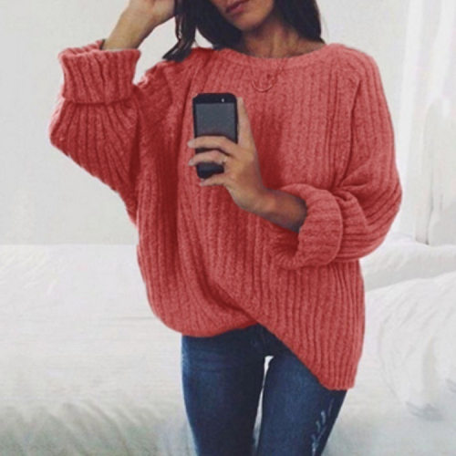 Ladies' Pure colour loose sweater