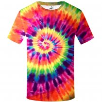 Men's tie-dyed T-shirt