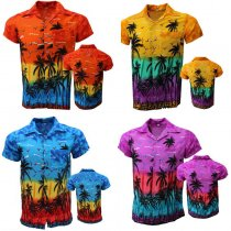 Men's Short-sleeved beach shirt
