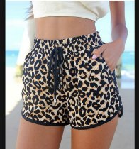 Ladies' Leopard-print shorts