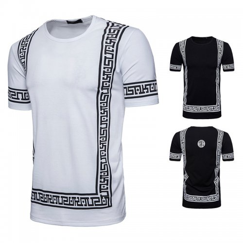 Men's Mid-long zipper-pattern T-shirt