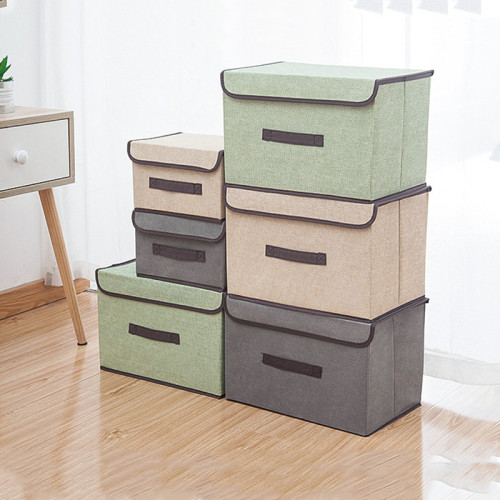 Folding multi-purpose clothing storage box