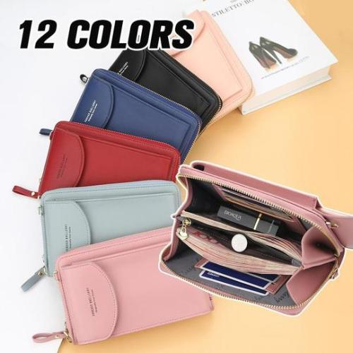 Ladies solid color small diagonal straddle bag