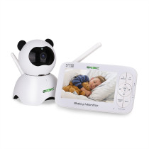 Baby Monitor,SV3C 720P Video Baby Monitor with Camera and Audio, 5  LCD HD Screen Night Vision, Pan/Tilt/Zoom Camera,Two-Way-Talk,Temperature Monitor,Sound Detection,Lullabies,Range up to 900ft